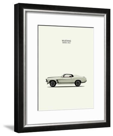 Ford Mustang Boss302 1969-Mark Rogan-Framed Giclee Print