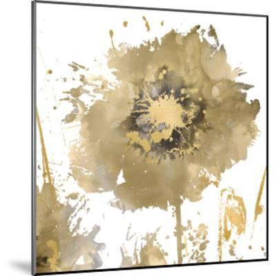 Flower Burst in Gold I-Vanessa Austin-Mounted Giclee Print