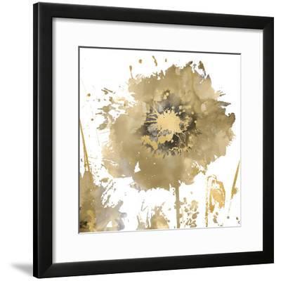 Flower Burst in Gold I-Vanessa Austin-Framed Giclee Print