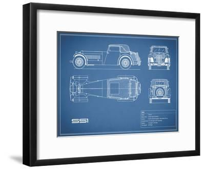 Jaguar SS1-Blue-Mark Rogan-Framed Giclee Print