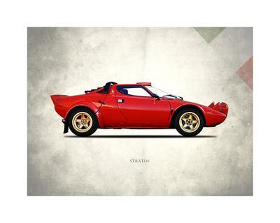 Lancia Stratos 1974-Mark Rogan-Framed Giclee Print