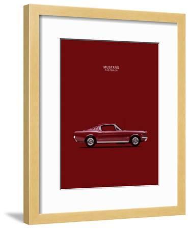 Mustang Fastback 65-Mark Rogan-Framed Giclee Print