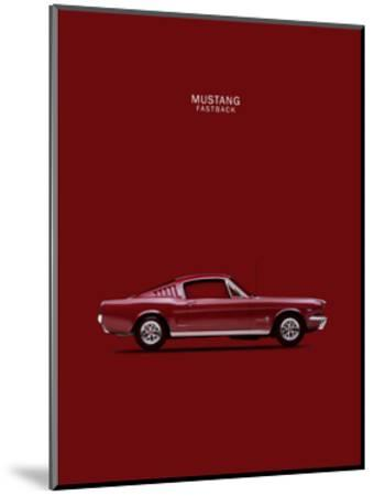 Mustang Fastback 65-Mark Rogan-Mounted Giclee Print