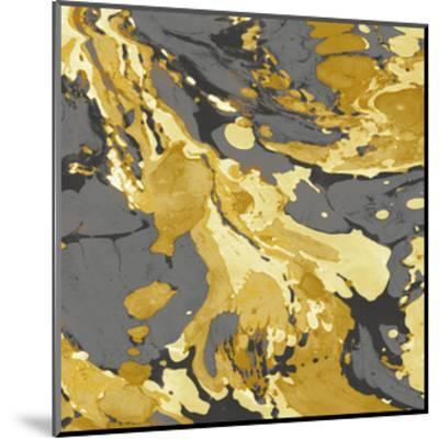 Marbleized in Gold and Grey I-Danielle Carson-Mounted Giclee Print