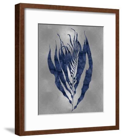 Sea Life - Blue on Silver I-Melonie Miller-Framed Giclee Print