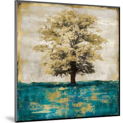 Stately - Aqua with Gold-Eric Turner-Mounted Giclee Print