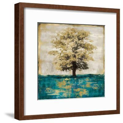 Stately - Aqua with Gold-Eric Turner-Framed Giclee Print