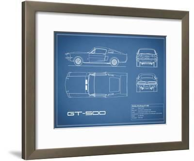 Shelby Mustang GT500-Blue-Mark Rogan-Framed Giclee Print