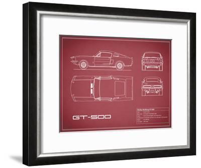 Shelby Mustang GT500-Maroon-Mark Rogan-Framed Giclee Print