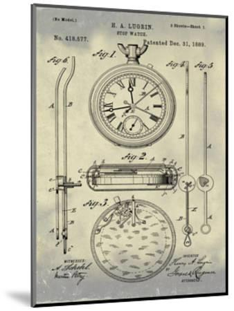 Stop Watch II, 1889-Antique II-Bill Cannon-Mounted Giclee Print