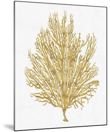 Sea Life - Gold on White V-Melonie Miller-Mounted Giclee Print