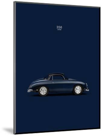Porsche 356 1958 Blue-Mark Rogan-Mounted Giclee Print