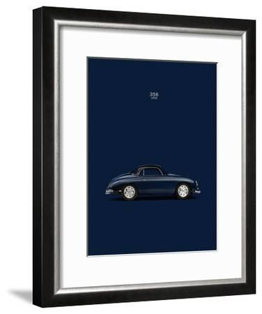 Porsche 356 1958 Blue-Mark Rogan-Framed Giclee Print