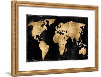 The World - Gold on Black-Russell Brennan-Framed Giclee Print