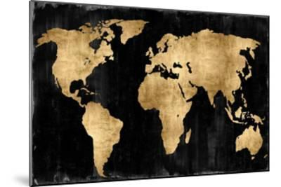 The World - Gold on Black-Russell Brennan-Mounted Giclee Print