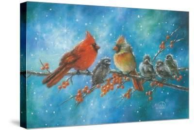 Cardinals Family-Vickie Wade-Stretched Canvas Print