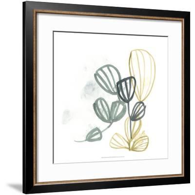 Abstract Sea Fan III-June Erica Vess-Framed Giclee Print