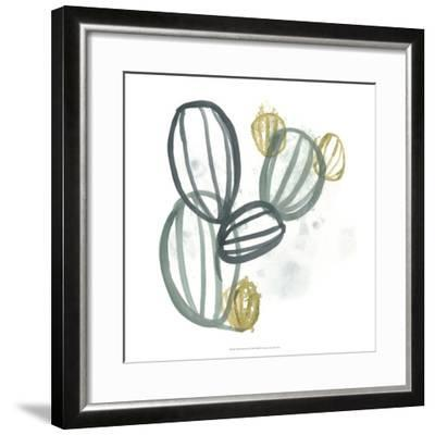 Abstract Sea Fan IV-June Erica Vess-Framed Giclee Print