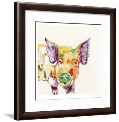 Hi Fi Farm Animals III-Jennifer Goldberger-Framed Limited Edition