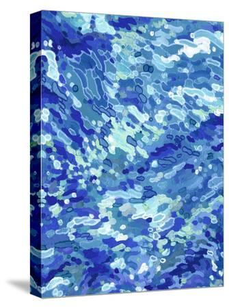 Colliding Waves-Margaret Juul-Stretched Canvas Print