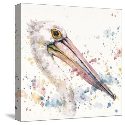 Pelicans About-Sillier than Sally-Stretched Canvas Print