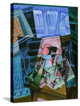 Still Life before an Open Window, Place Ravignan, 1915-Juan Gris-Stretched Canvas Print