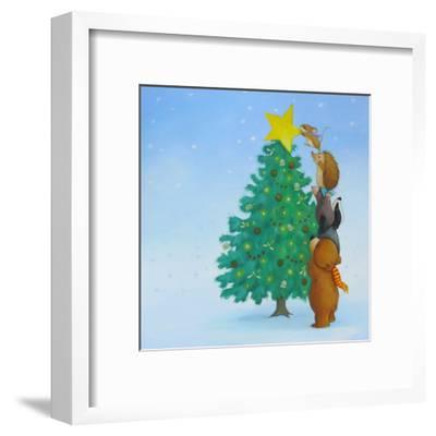 Christmas Tree Star-Advocate Art-Framed Art Print