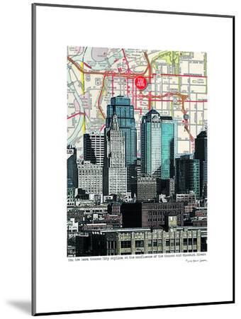Kansas City Skyline--Mounted Art Print