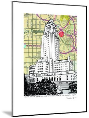 Los Angeles City Hall--Mounted Art Print
