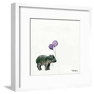 Nursery Hippo-Britt Hallowell-Framed Art Print