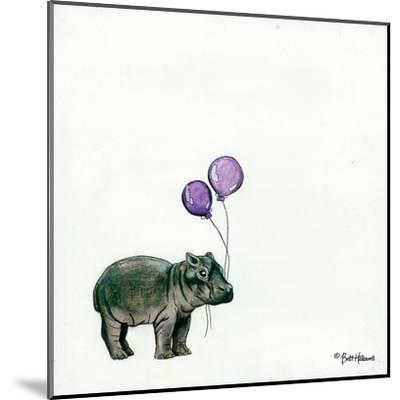 Nursery Hippo-Britt Hallowell-Mounted Art Print