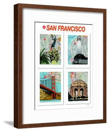 San Francisco Poster--Framed Art Print