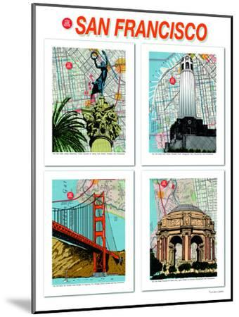 San Francisco Poster--Mounted Art Print