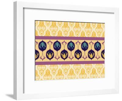 YellowTurkishStriped CaraKozik-Cara Kozik-Framed Art Print