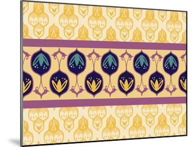 YellowTurkishStriped CaraKozik-Cara Kozik-Mounted Art Print