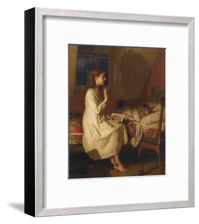 Story of Golden Locks, c.1870-Seymour Joseph Guy-Framed Premium Giclee Print