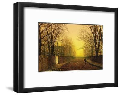 Golden Autumn-John Atkinson Grimshaw-Framed Premium Giclee Print
