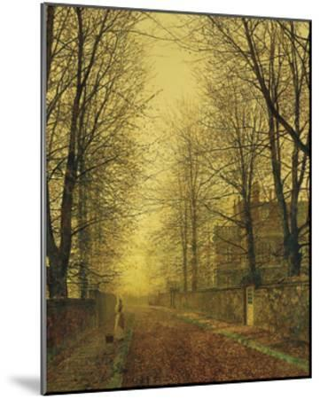 In Autumn's Golden Glow-John Atkinson Grimshaw-Mounted Premium Giclee Print