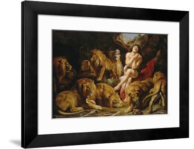 Daniel in the Lions' Den-Peter Paul Rubens-Framed Premium Giclee Print