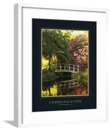 Communication-Bent Rej-Framed Giclee Print