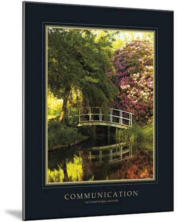 Communication-Bent Rej-Mounted Giclee Print
