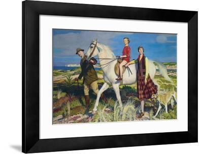 Four Loves I Found, a Woman, a Child, a Horse and a Hound-George Spencer Watson-Framed Giclee Print