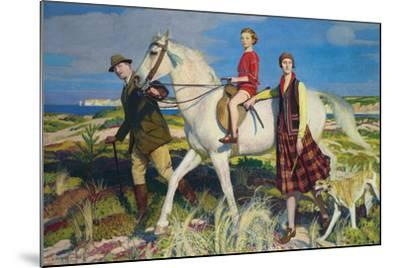 Four Loves I Found, a Woman, a Child, a Horse and a Hound-George Spencer Watson-Mounted Giclee Print