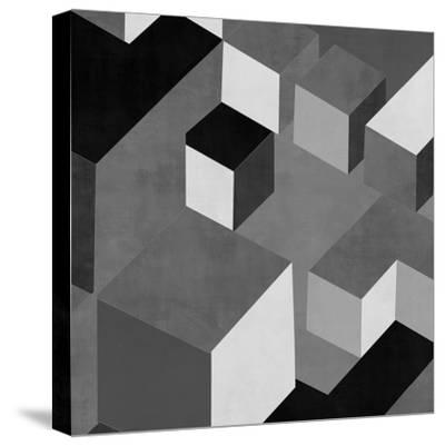 Cubic in Grey I-Todd Simmons-Stretched Canvas Print