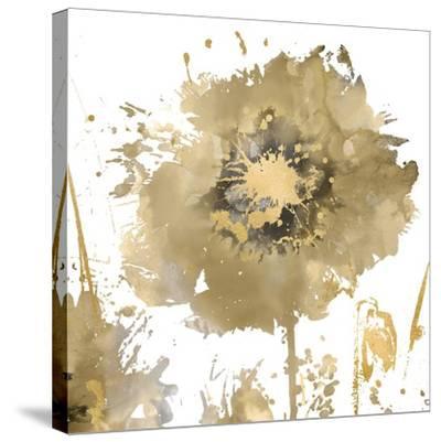 Flower Burst in Gold I-Vanessa Austin-Stretched Canvas Print