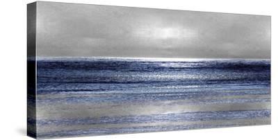 Silver Seascape II-Michelle Matthews-Stretched Canvas Print