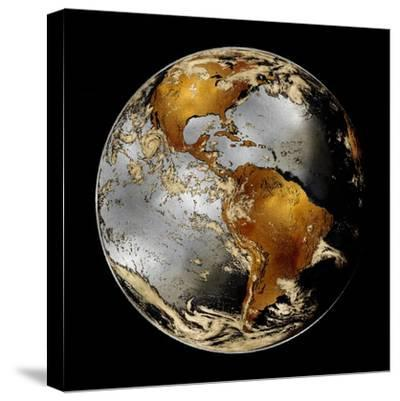 World Turning II-Russell Brennan-Stretched Canvas Print