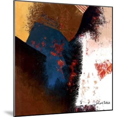 Teal Abstract II-Cyndi Schick-Mounted Art Print