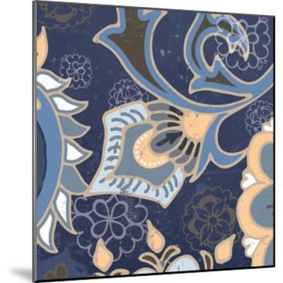 Paisley Blossom Blue III-Leslie Mark-Mounted Art Print