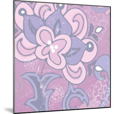 Paisley Blossom Pink I-Leslie Mark-Mounted Art Print
